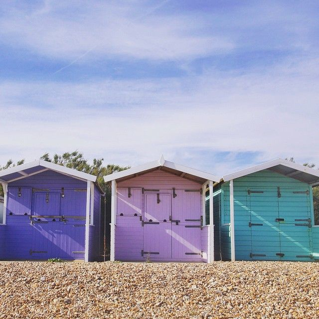 """""""Morning all! A few more pastel #beachhuts for you :)"""" Photo taken by @zoepower on Instagram, pinned via the InstaPin iOS App! http://www.instapinapp.com (06/15/2015)"""