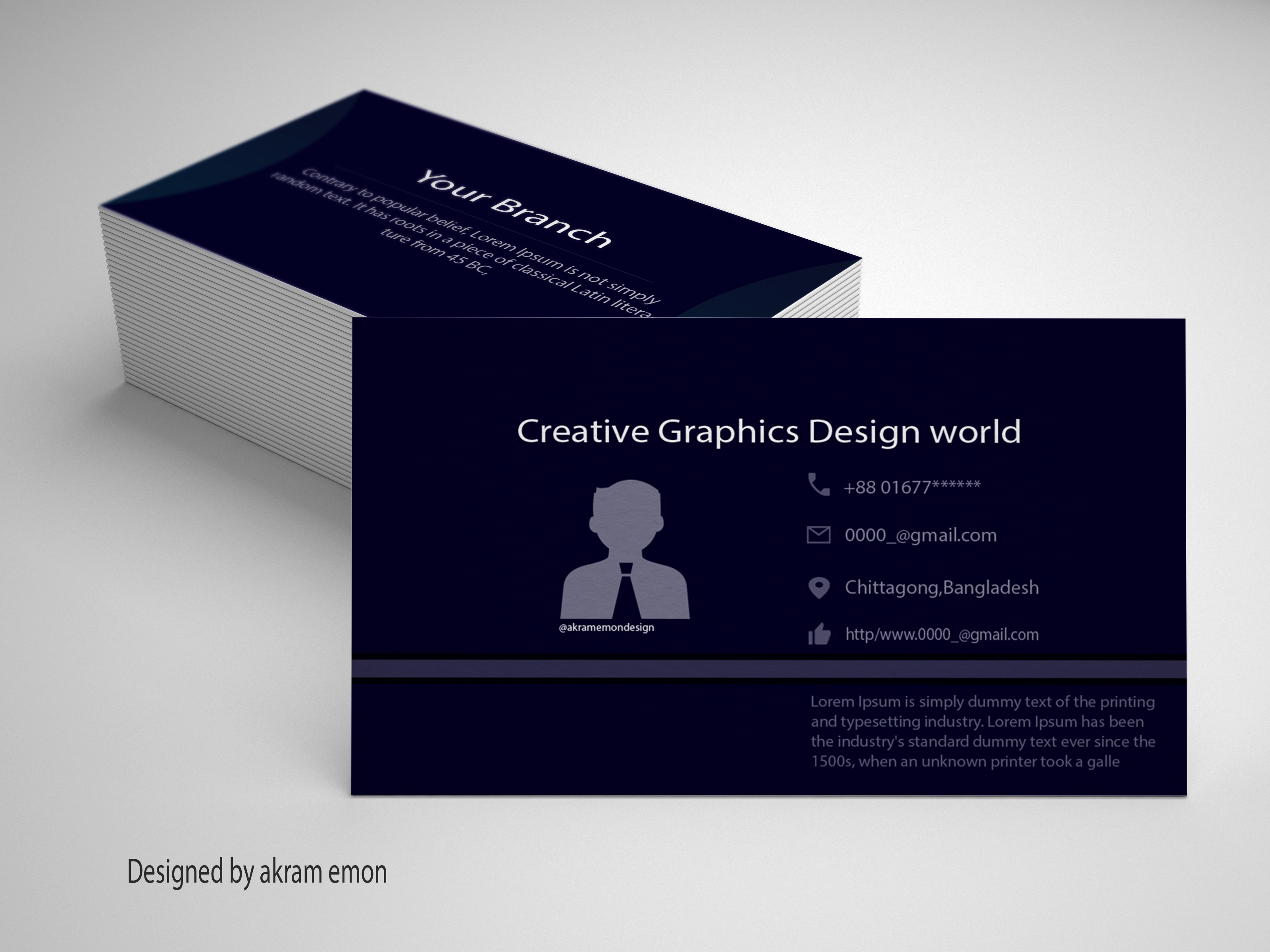 Personal Business Card Design At Fiverr Akramemon58 Personal Business Cards Creative Graphics Card Design