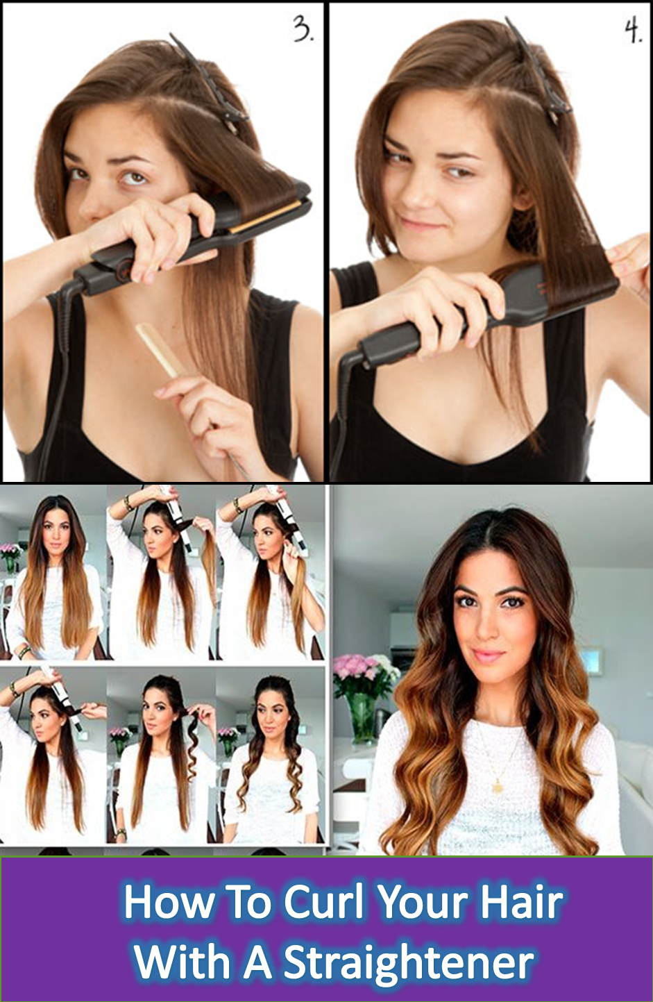 If You Are Looking For Some Kind Of Tips Like How To Curl Your Hair With A Straighte How To Curl Your Hair Curl Hair With Straightener Curls With Straightener