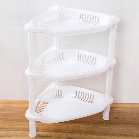 3 tier plastic corner organizer