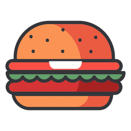 Fast Food Hamburger Flat Icon Flat Icon Icon Fast Food
