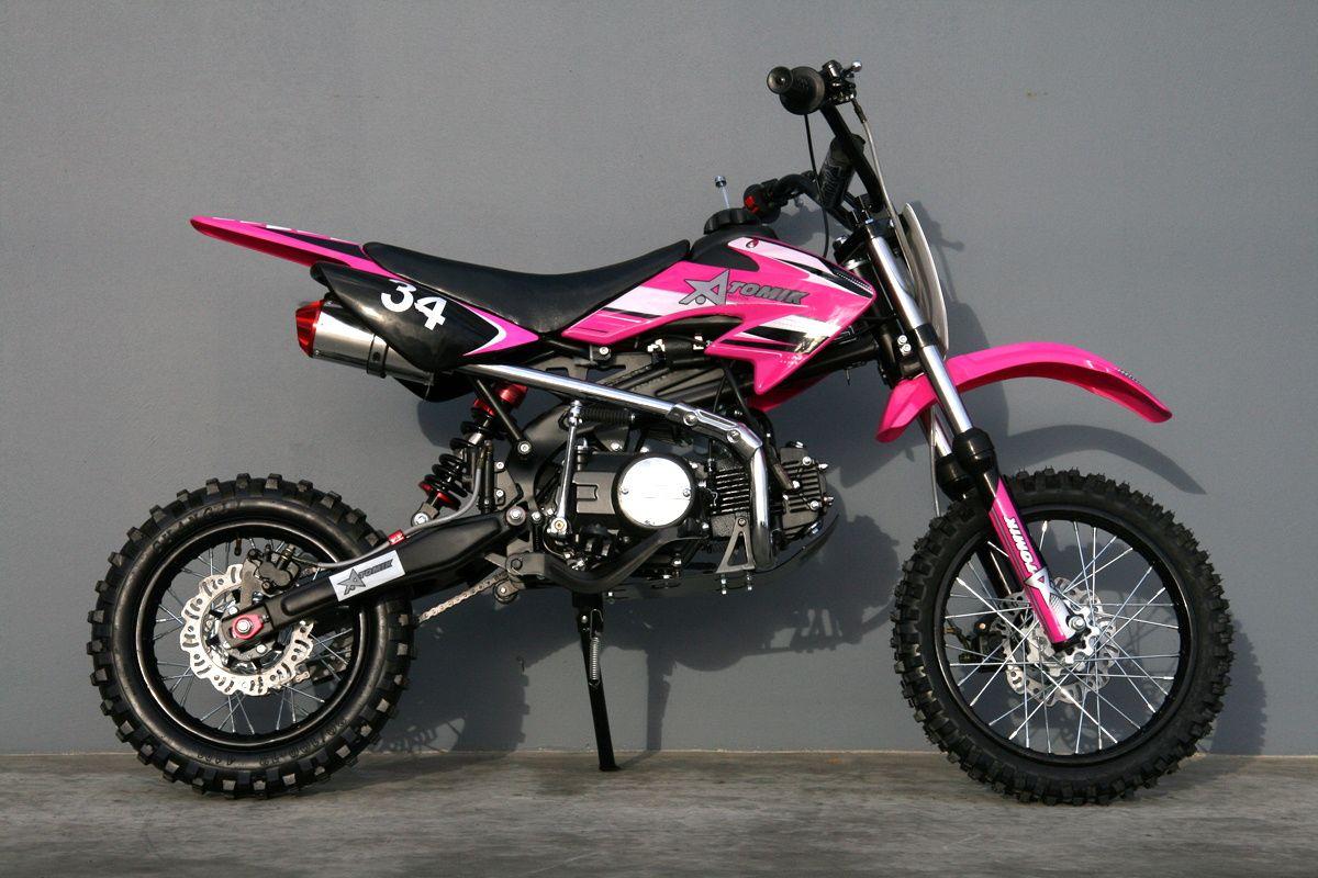 125cc Moto 34 Pink Pit Bike Can T Wait To Get One Pit Bike Pink Dirt Bike Motocross Bikes