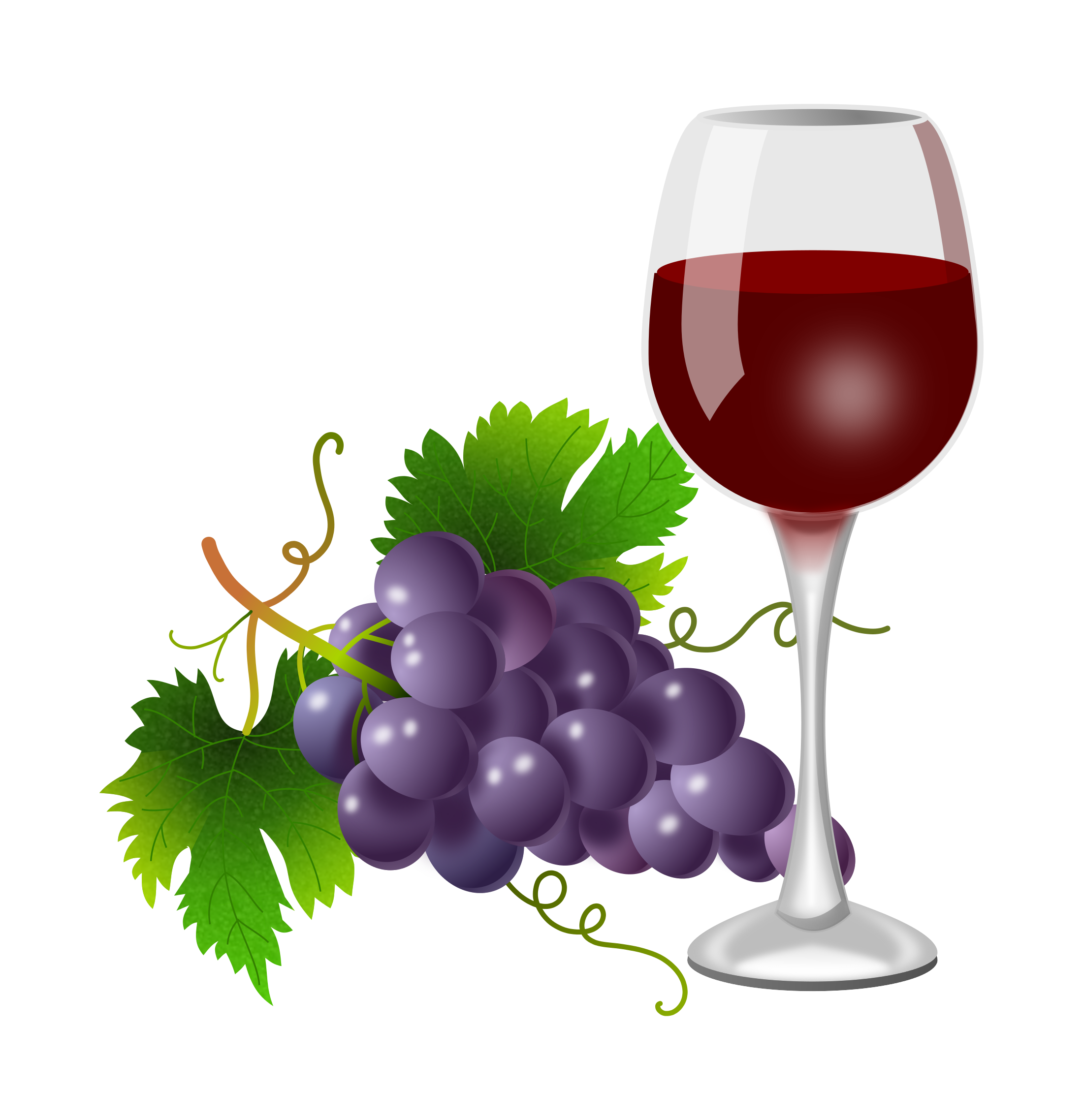 Weinglas Clipart Kostenlos Purple Grapes And Wine Glass 2200x2276 Clipart Everyday