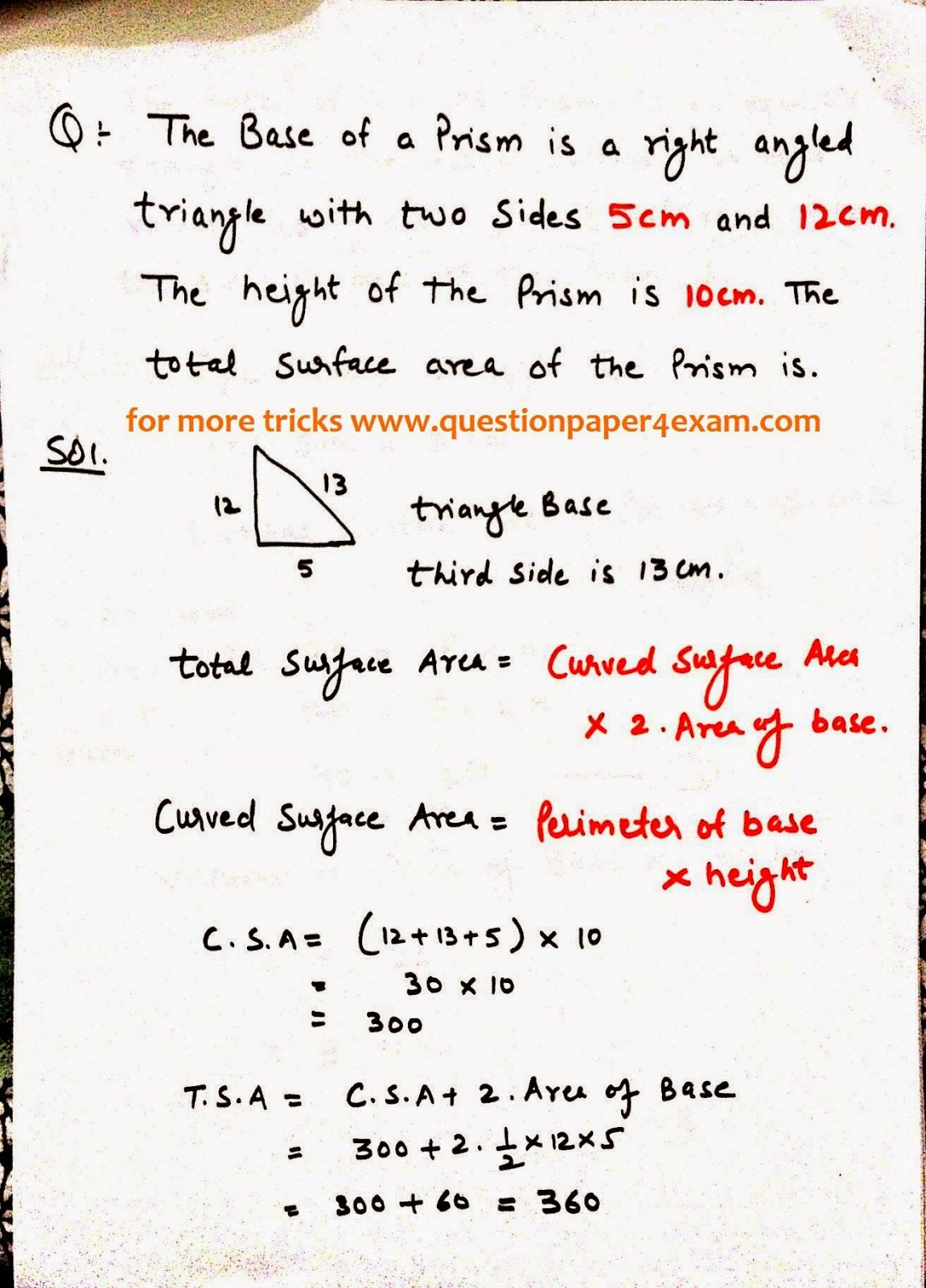 Maths Formulas For Class 9 Ssc