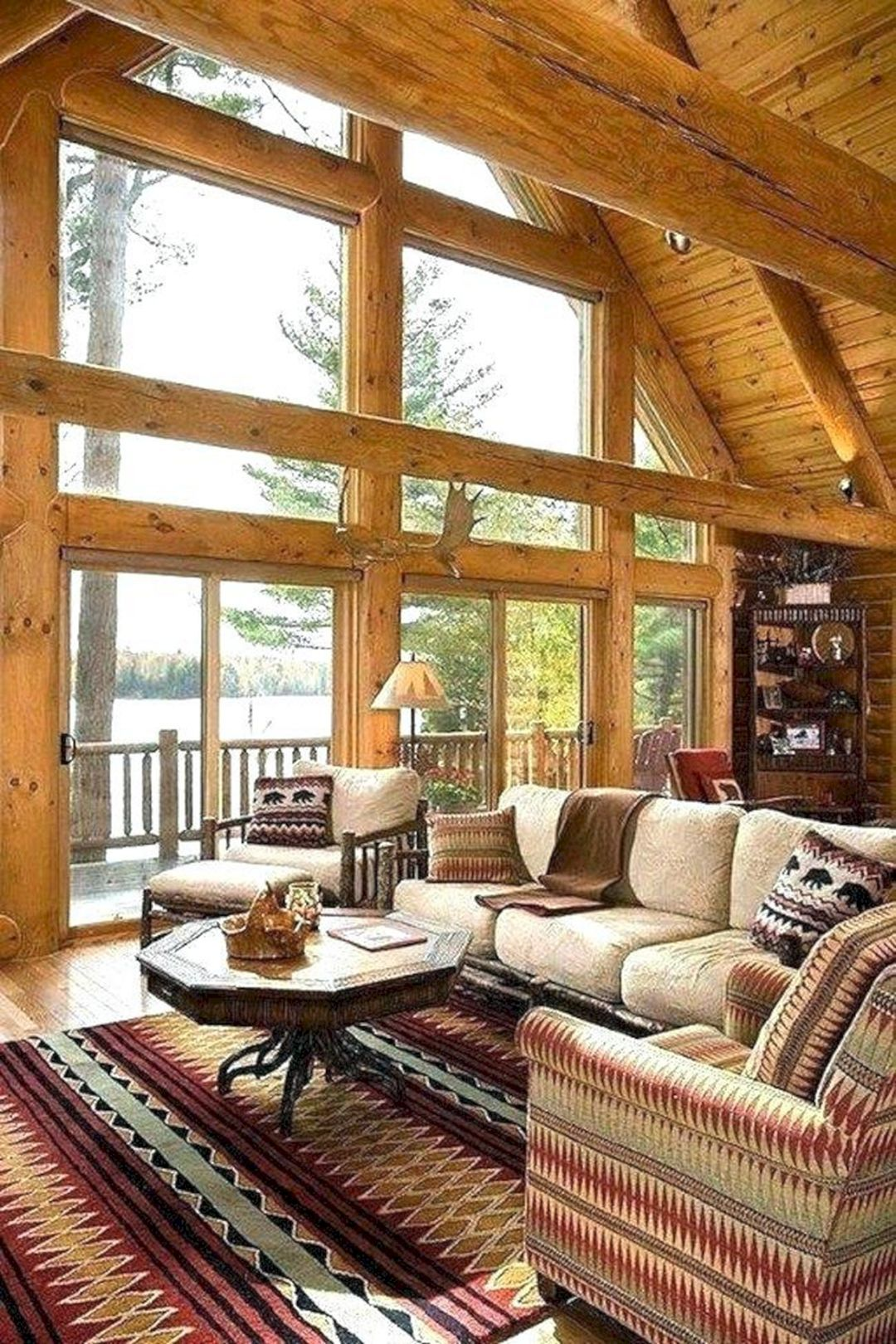Top 10 Small Log Cabin Ideas With Awesome Decoration Log Home Interiors Cabin Interior Design Log Cabin Decor