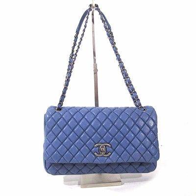 Chanel Cornflower Blue Lavender Sparkle Flap Bag