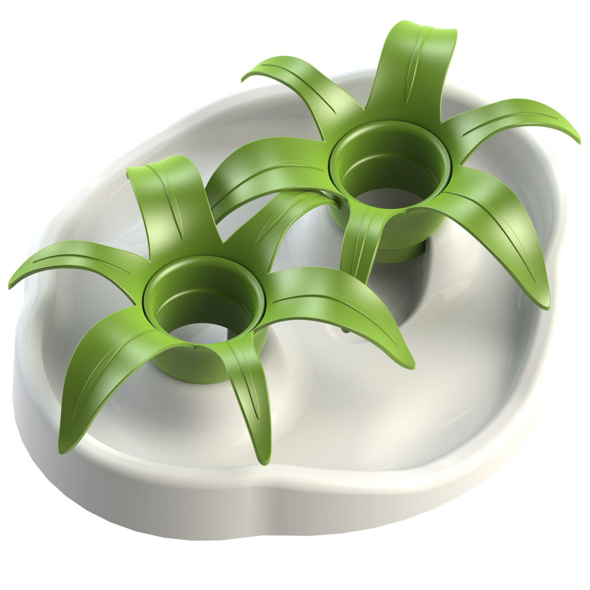 AÃ KIOU Thin Kat Interactive Cat Bowl Slow Feed Flower