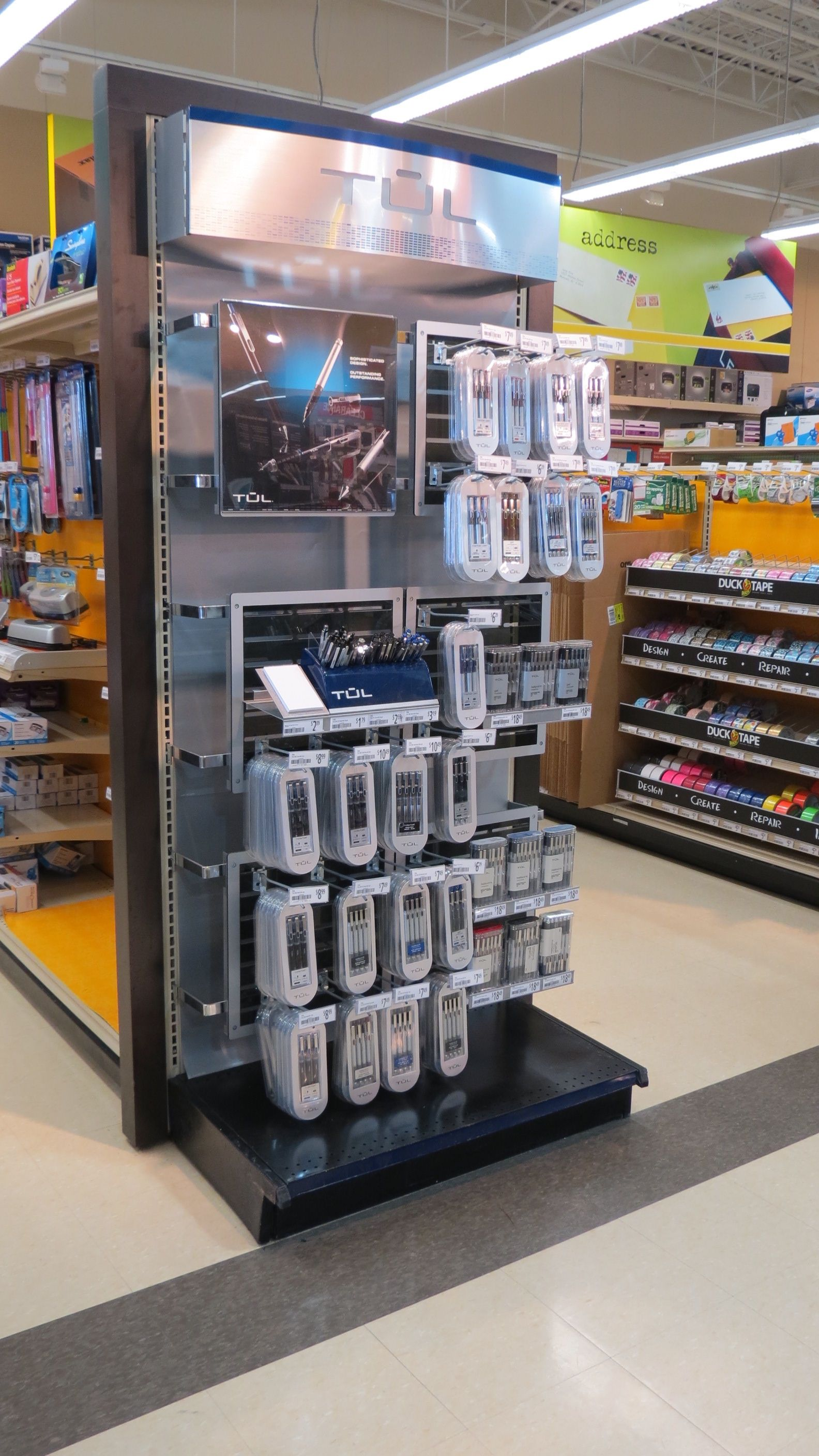 Tul Pen Office Products Promo Endcap Display Retail