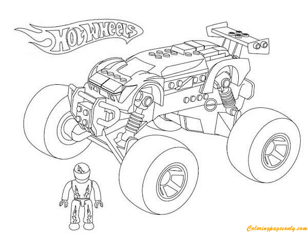 Monster Truck Hot Wheels 2 Coloring Page You Can Print This Nice Hot Wheels Monster T Monster Truck Coloring Pages Truck Coloring Pages Monster Truck Drawing