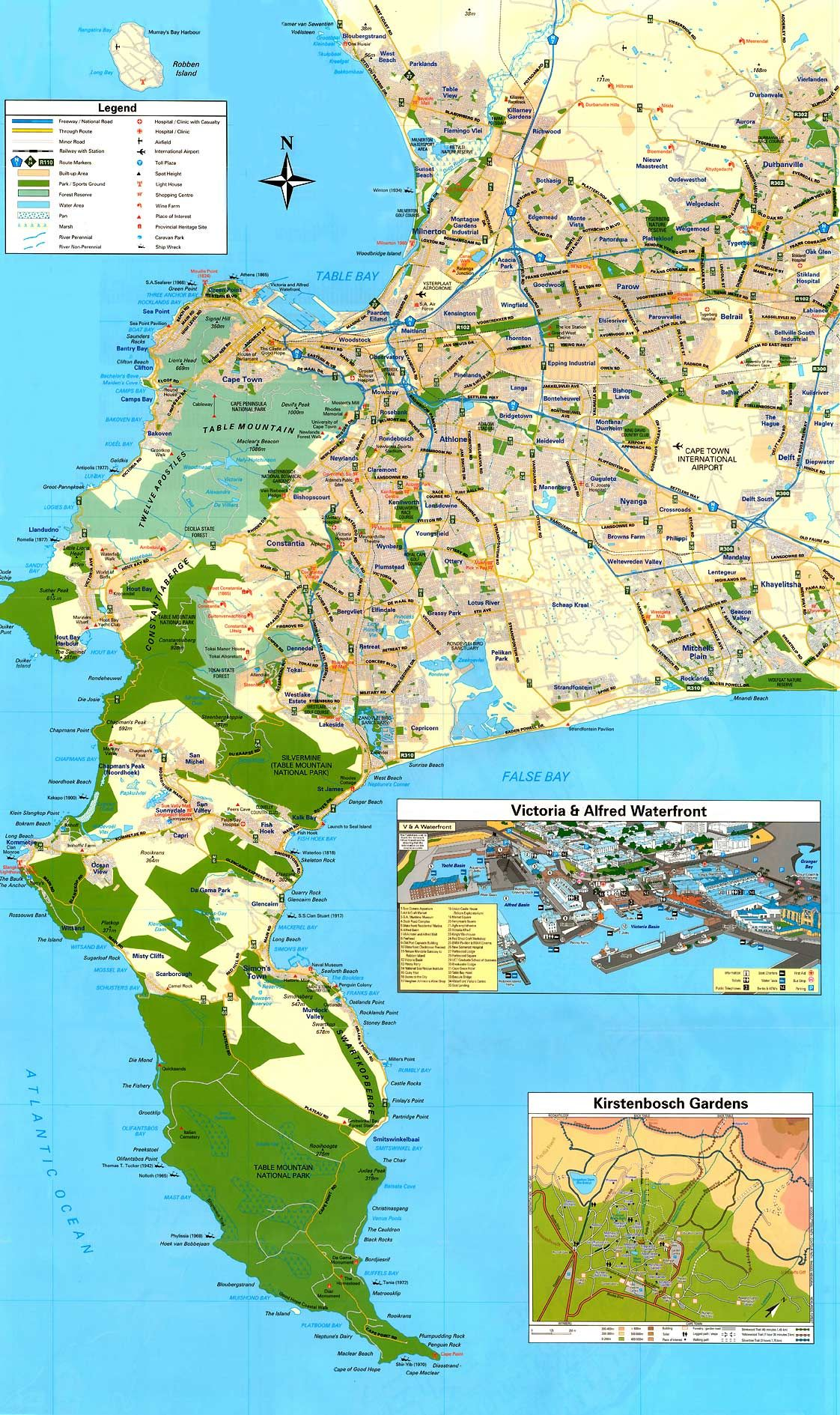 map of cape town south africa - Google Search | Hotel in Capetown ...