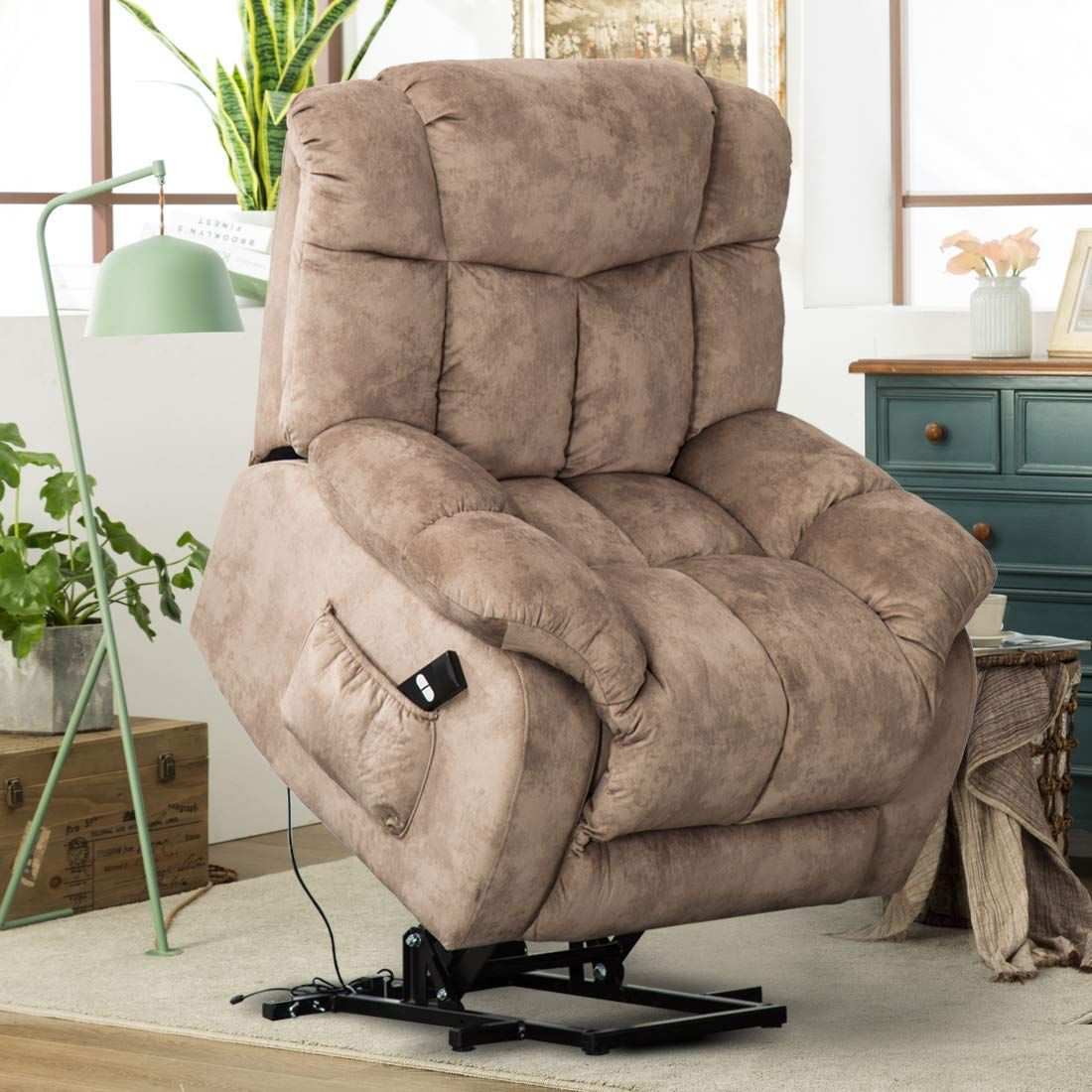 Heavy Duty Living Room Furniture in 4  Recliner chair, Fabric