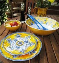 Superior Benidorm Yellow Melamine Dinnerware Set Service For Four  Outdoor Melamine  Dinnerware Home And Patio
