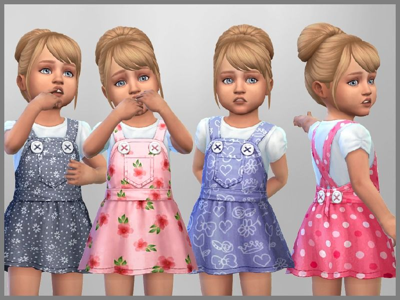 Set of 4 toddler dresses for everyday wear Found in TSR Category  Sims 4 Toddler  Female  b8bbadef1b