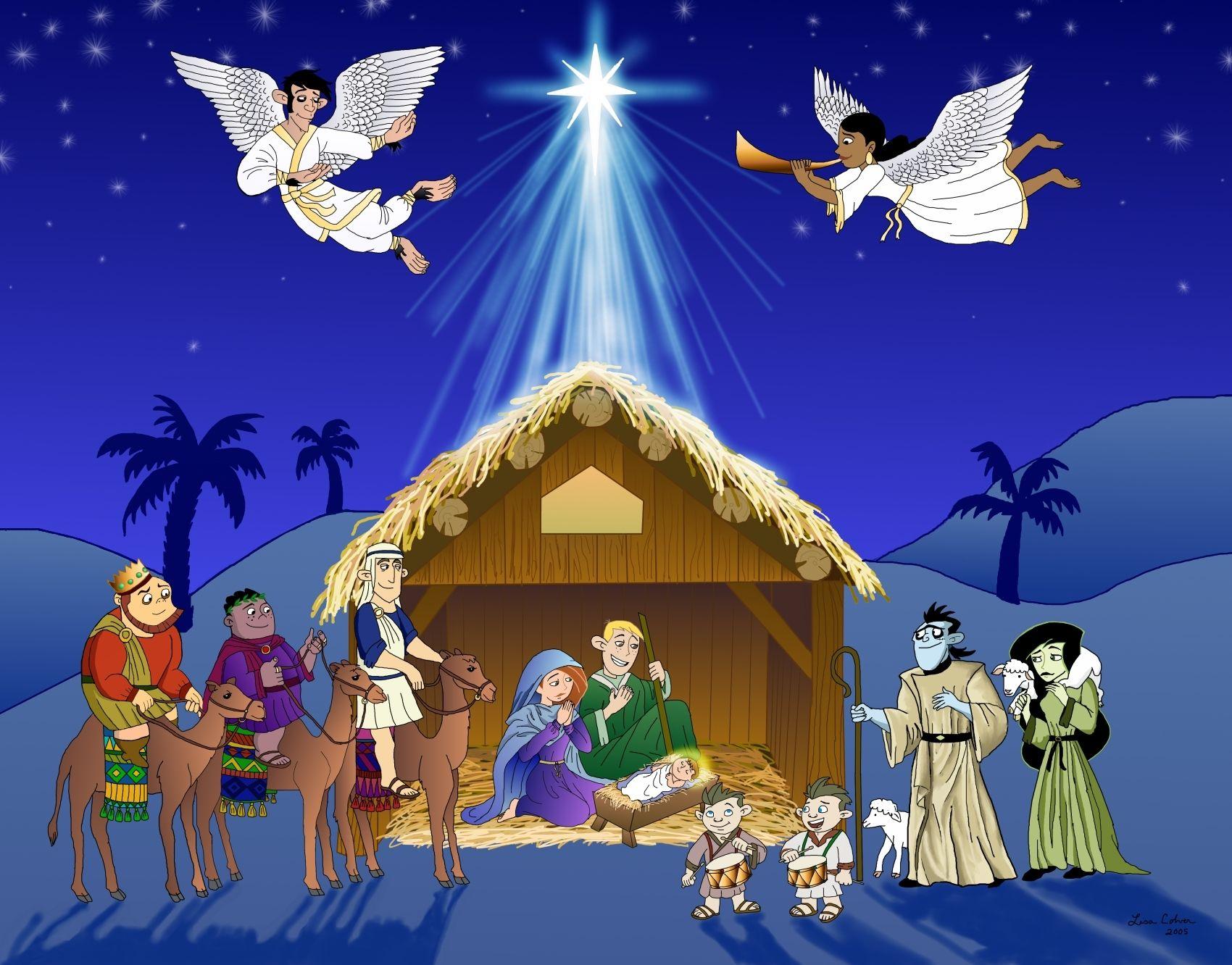 nativity scene clip art kim possible nativity scene by drakkenfan fan art digital art  [ 1700 x 1332 Pixel ]