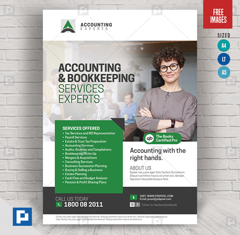Accounting And Tax Services Flyer Psdpixel Tax Services Bookkeeping Services Accounting