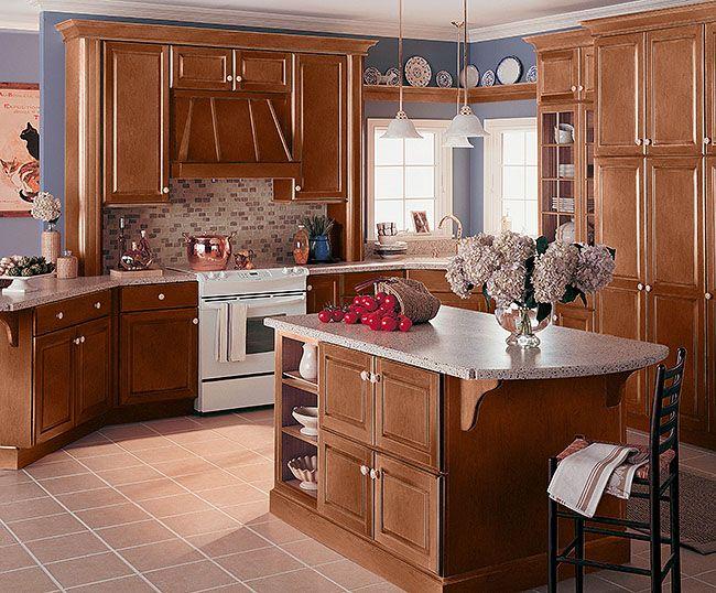 Somerton Hill - Merillat - Hazelnut with java glaze   kitchen ...