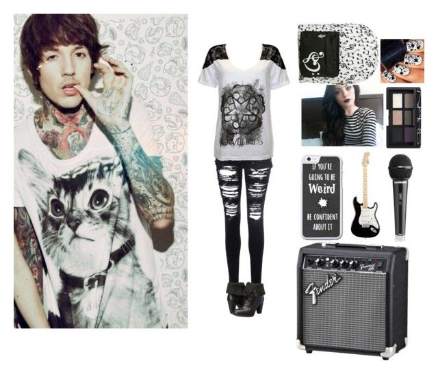 """""""Day With Oli!"""" by hazeybiersackquinnhood ❤ liked on Polyvore featuring Sykes, Glamorous, Timberland, NARS Cosmetics and JaylensBae"""