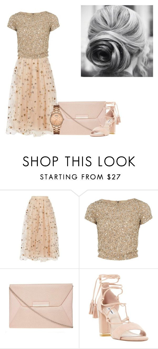 """Sparkling Stars"" by shiningalight99 ❤ liked on Polyvore featuring Valentino, Alice + Olivia, Dorothy Perkins, Dune and GUESS"