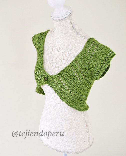 Cómo tejer un bolero mariposa para mujeres adultas a crochet ...