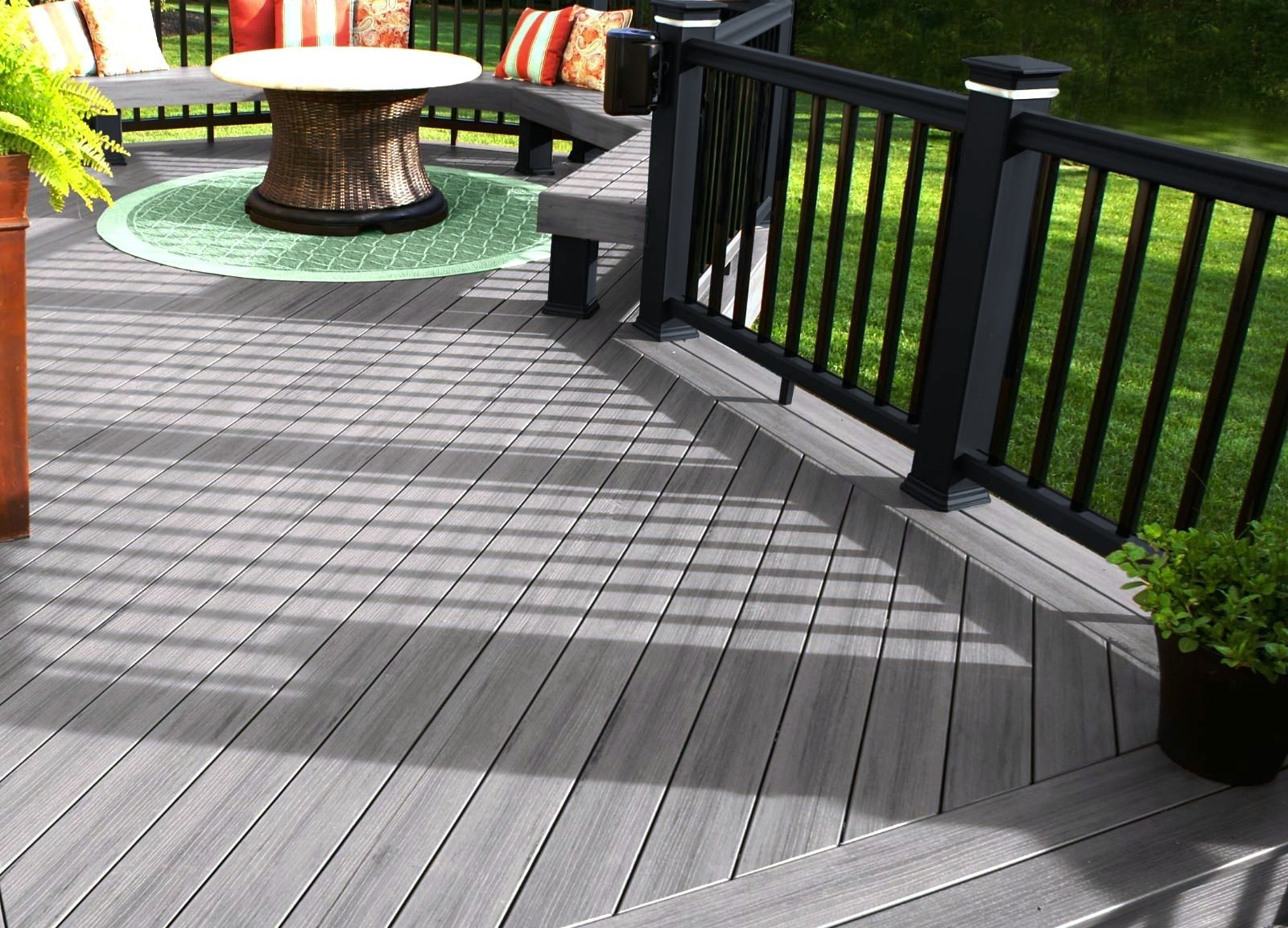 Deck railing color ideas google search outdoor living for Best material for deck