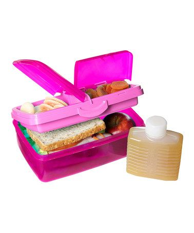 Take a look at this Pink 50Oz. Slimline Quaddie Lunch Box