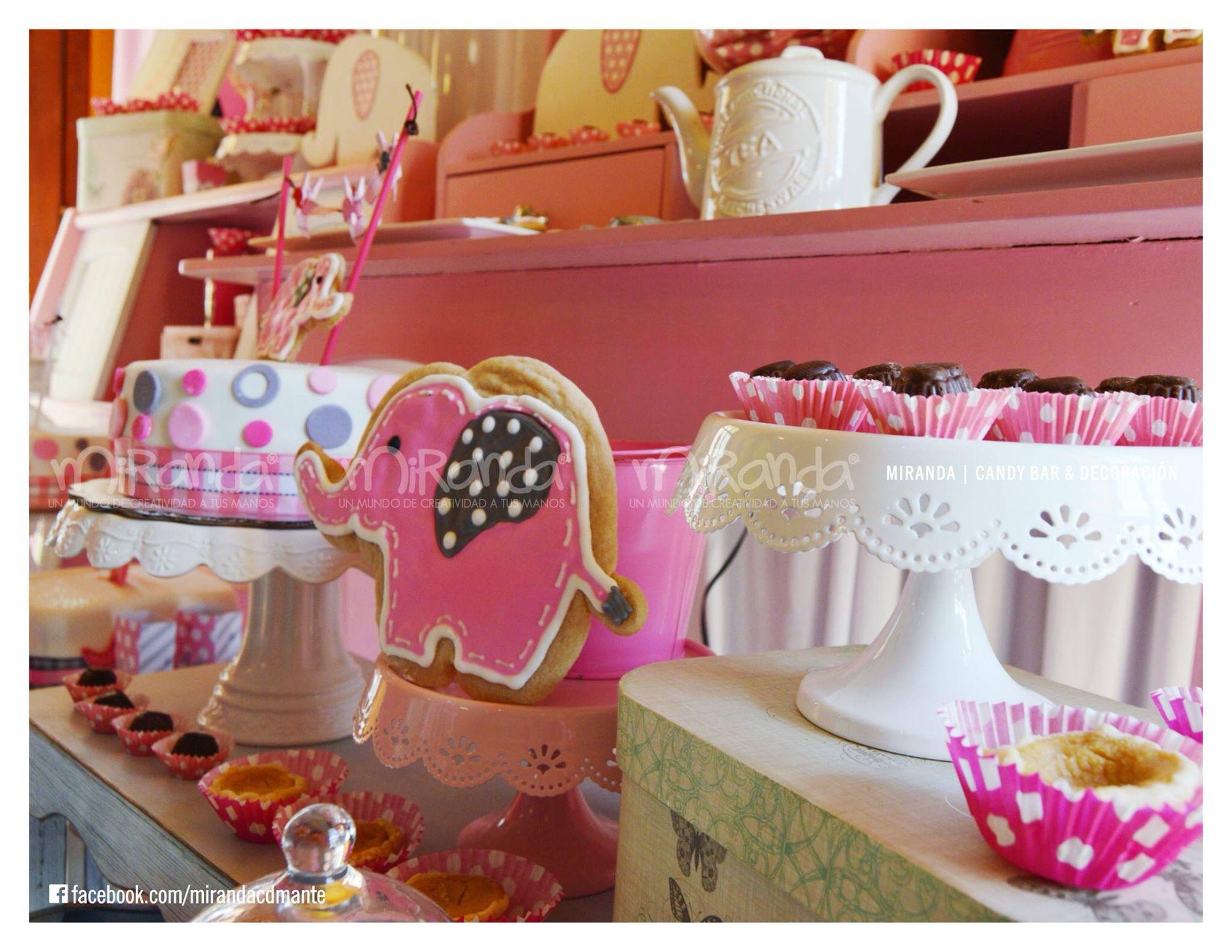 Baby Shower Elefante Rosado ~ Candybar & decoración de baby shower elefante rosa rosa gris baby