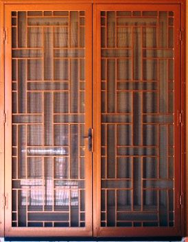 Contemporary Arcadia French Security Doors