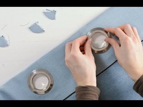 How To Install Grommets In Your Curtains Youtube Curtain Installation Diy Couture Grommet Curtains