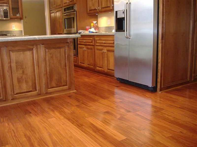 Wood tile floor pictures in a kitchen best tile for for Hardwood flooring nearby