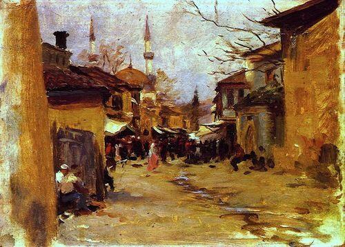 Arab Street Scene John Singer Sargent - circa 1890
