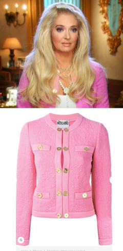 4eea7781d Erika Girardi's Pink Jacket with Gold Buttons During Interviews  http://www.bigblondehair
