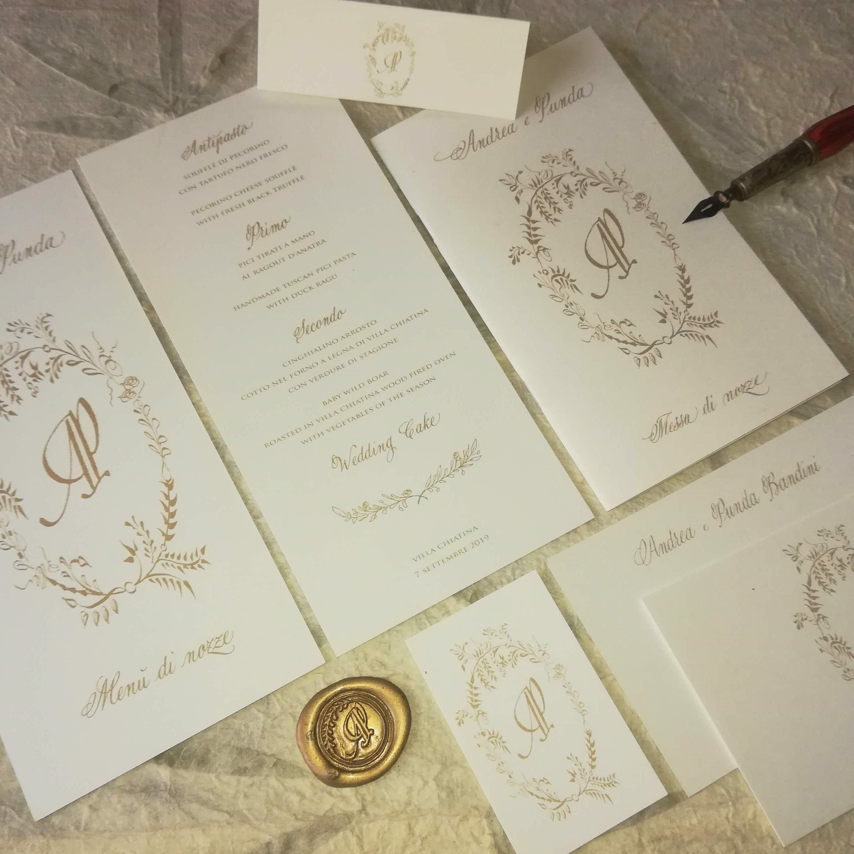Segnaposto Matrimonio Inglese.Wedding Stationery Suite Tuscany Wedding Stationery
