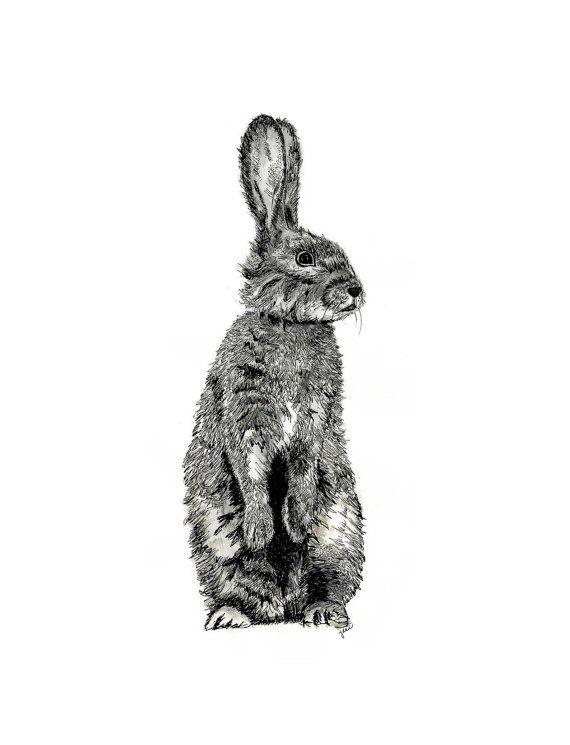 Miniblings Hare Laserprint Broche LC Pin Chasse de la Faune Animale for/êt Bois