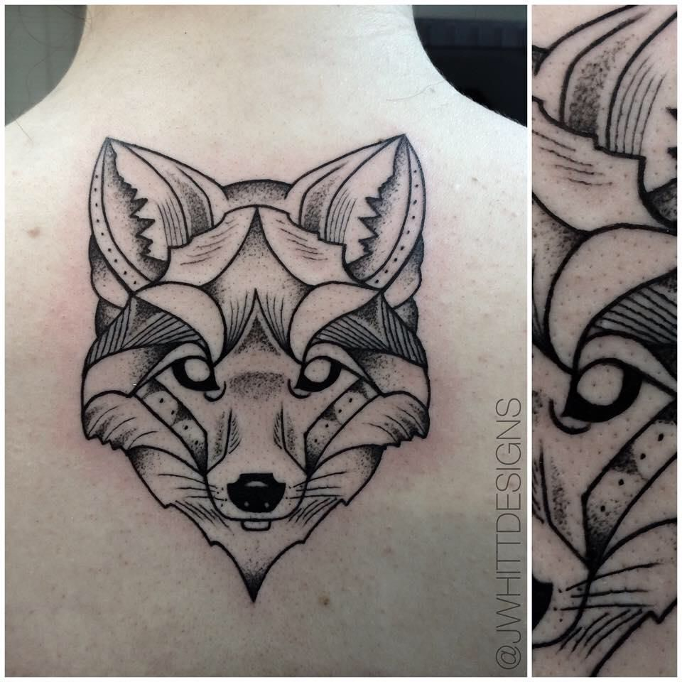 Geometric Fox Tattoo Jwhitt Designs Fox Tattoo Geometric Fox Tattoo Design Fox Tattoo