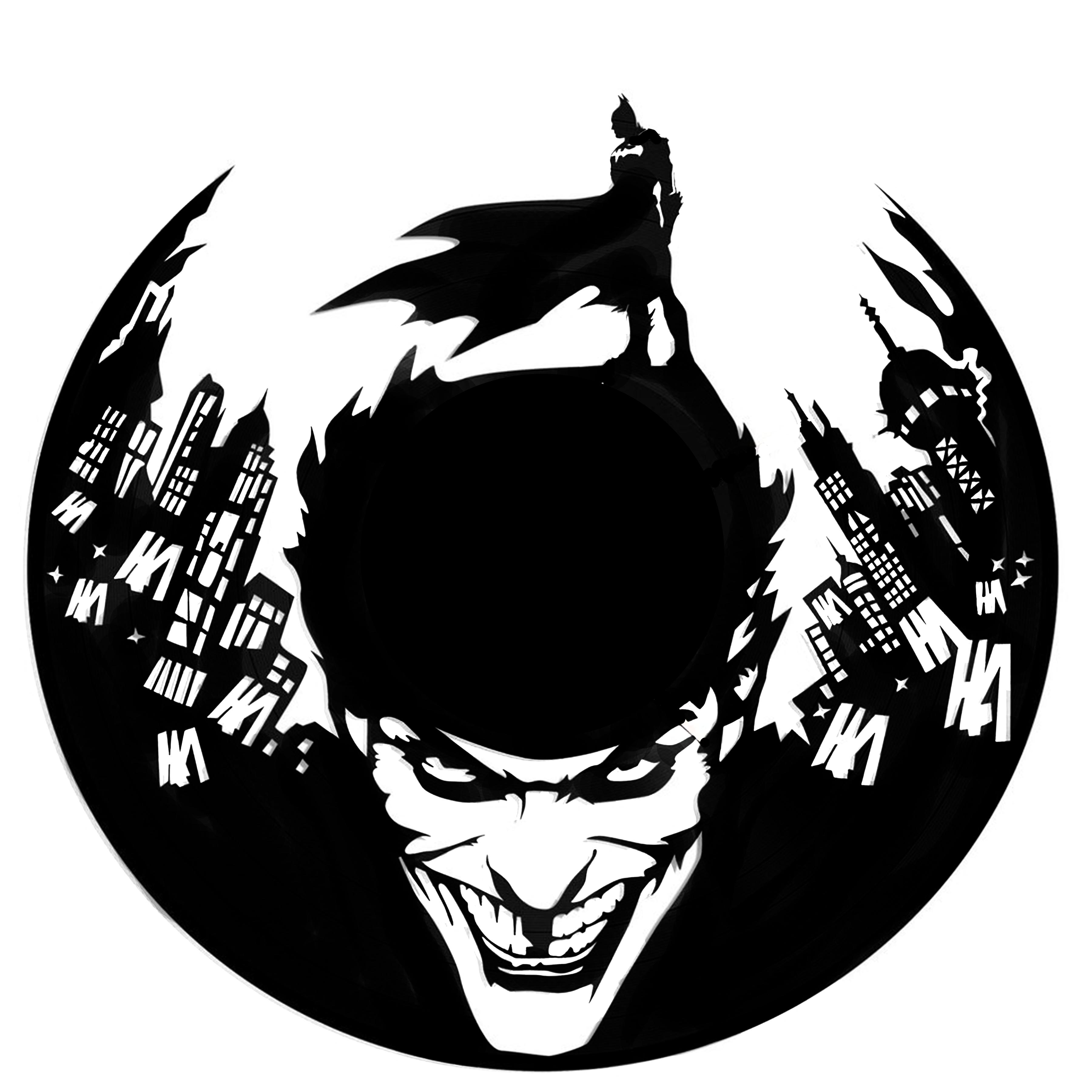 Batman Joker Batman Batman Joker Silhouette Vinyl