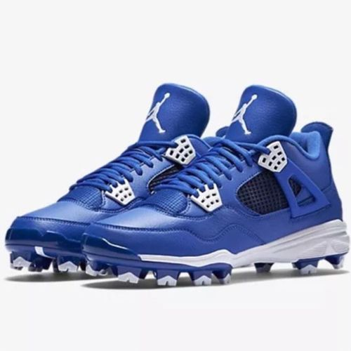 Nike Air Jordan Retro IV MCS Adult Baseball Cleat - Royal