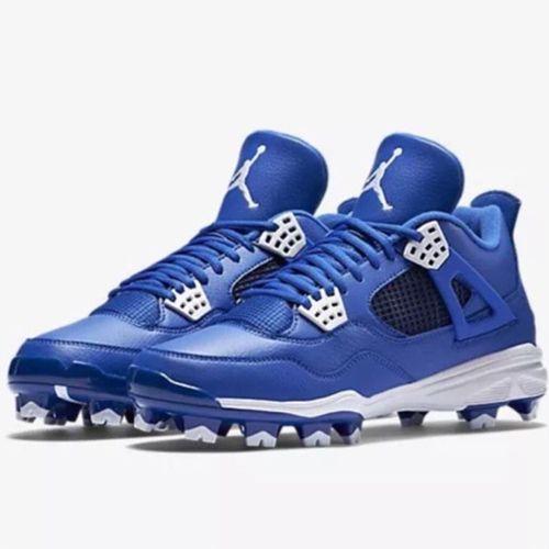 Nike Air Jordan Retro IV MCS Adult Baseball Cleat - Royal  8867c5b3722