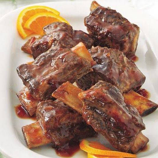 Slow Cooker Plum Barbecue Short Ribs