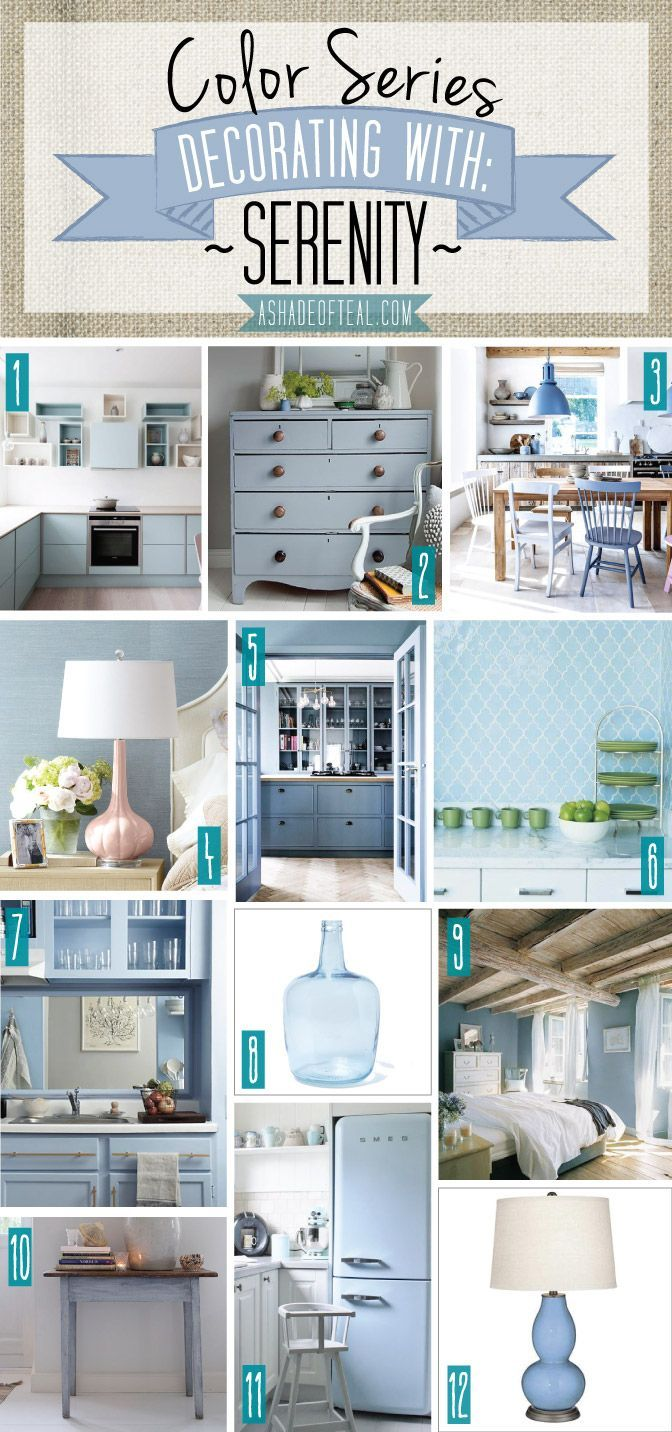 Color Series Decorating With Serenity Pale Blue Light Gray Home Décor Pantone Of The Year 2016 A Shade Teal
