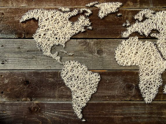 World map string art world map decal large by beaugrandmonde world map string art world map decal large by beaugrandmonde gumiabroncs Image collections