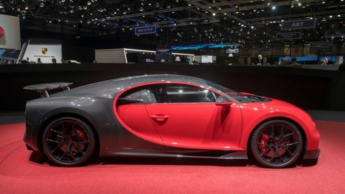 Close Up Of The Bugatti Supercar Chiron Sport 2019 Maximum Speed