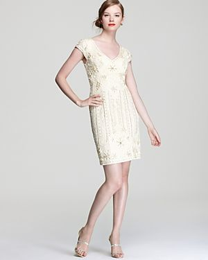 Sue Wong Beaded Dress, $488. The back is even BETTER.