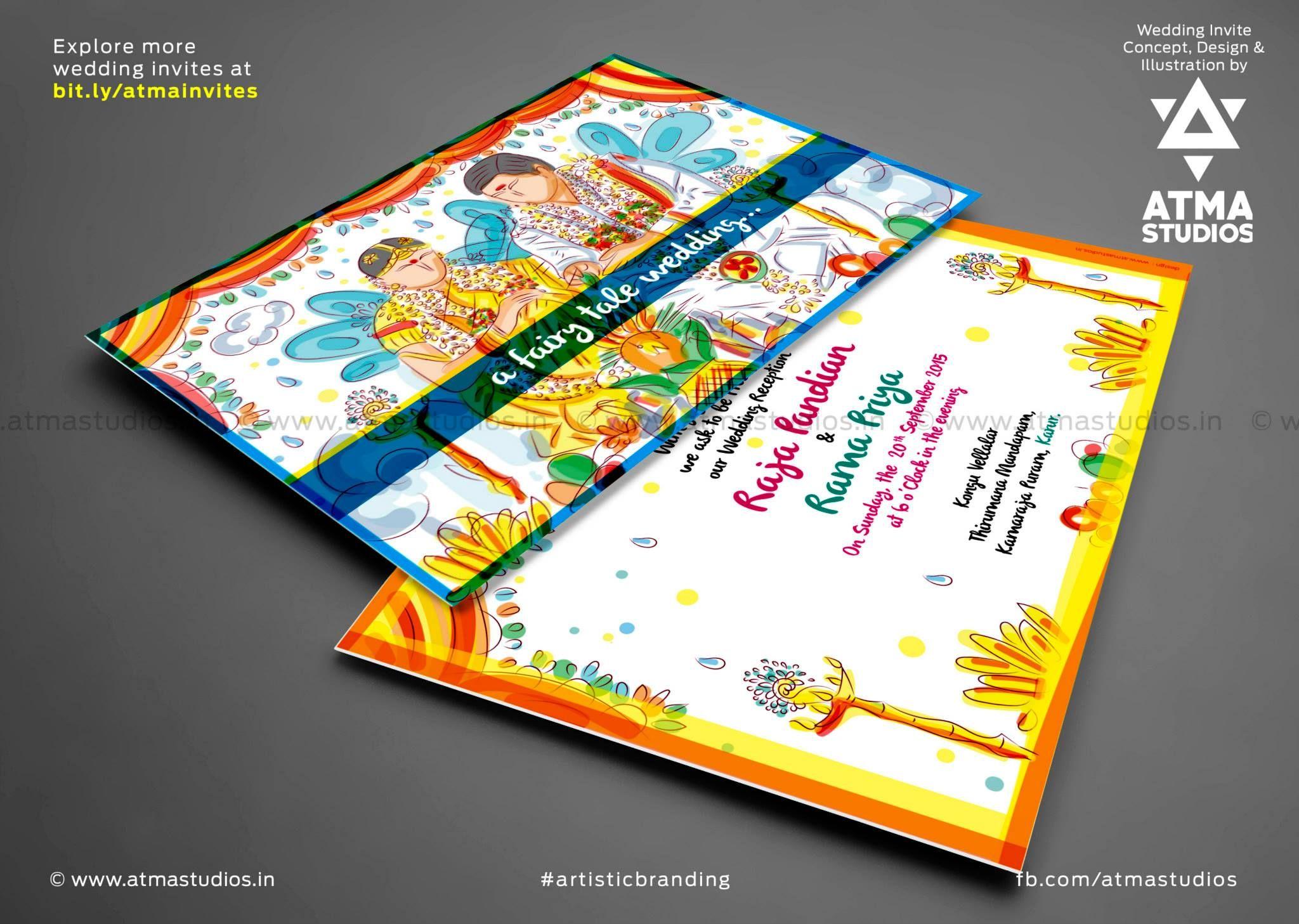 South Indian Wedding Invite Design #coimbatore #graphic #design ...