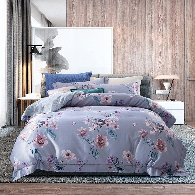 Boutique Flower Botanical Modern Chic Full Queen Size Bedding Sets Bedding Sets Queen Size Bedding Queen Size