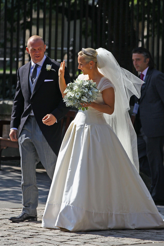 Rugby Love Zara phillips wedding, Royal brides