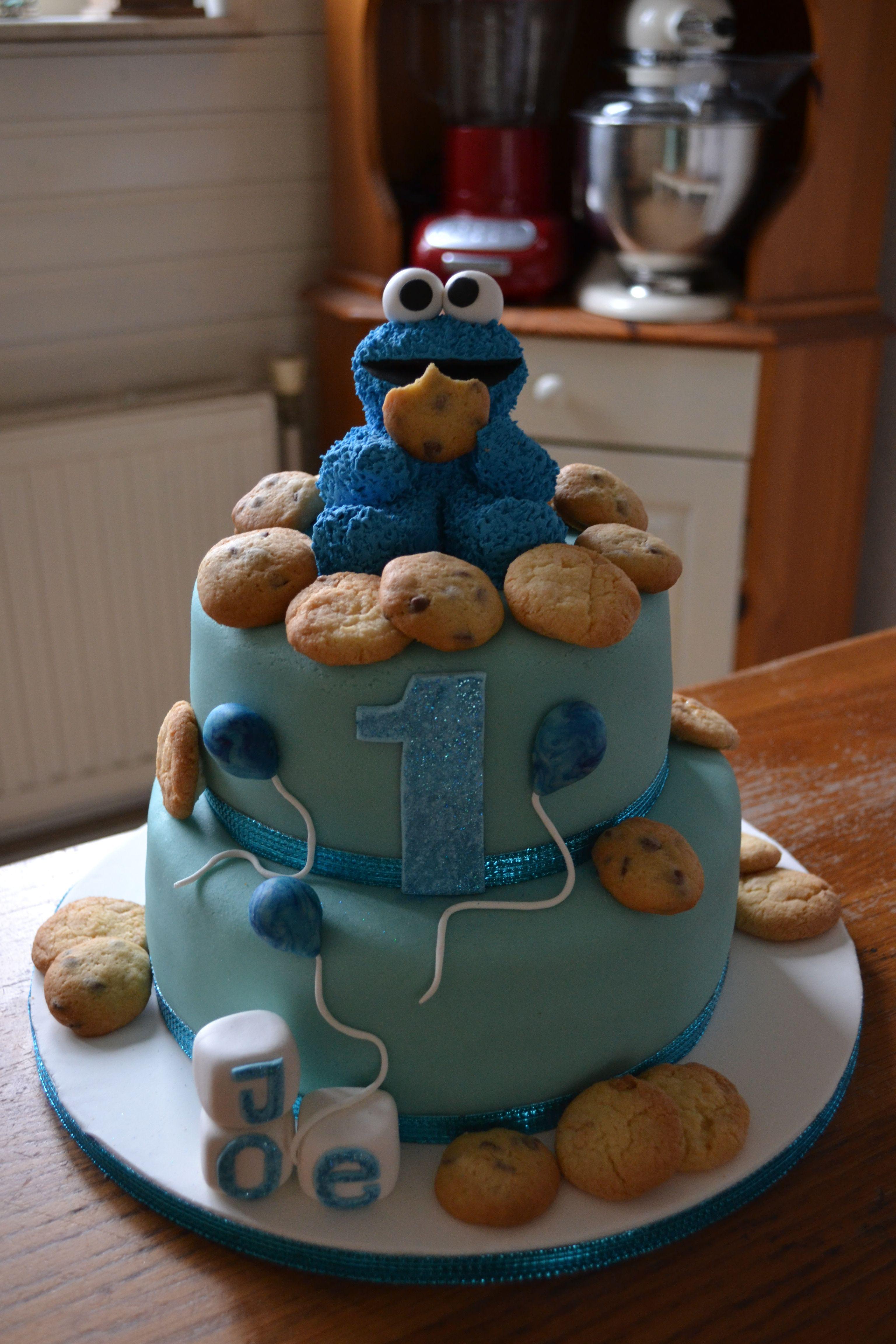 Cookie monster cake monster birthday cakes cookie