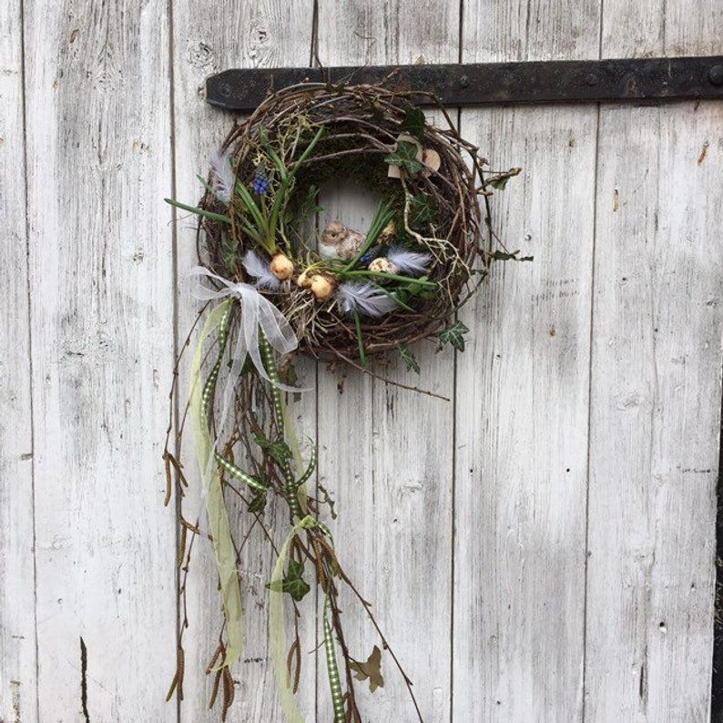"Photo of Easter Wreath ""Little Bird"""