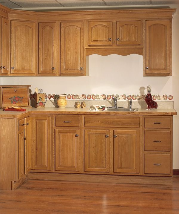 GOLDEN OAK KITCHEN CABINET - KITCHEN DESIGN PHOTOS