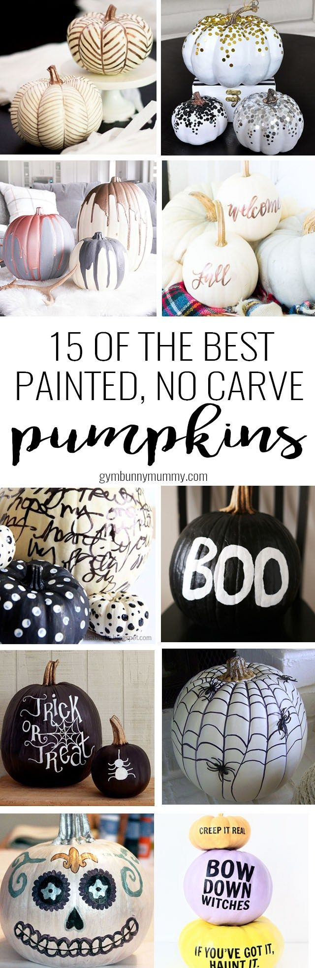 15 of the best hand painted, no carve pumpkin ideas & designs