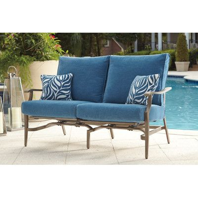 Bay Isle Home Goufes Patio Loveseat With Cushions Products
